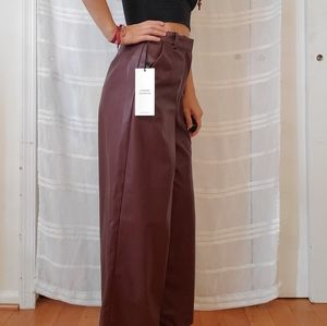 Forever 21 Pants - Faux leather culottes